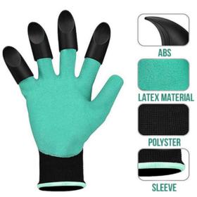 Latex Gloves Orange & Garden Claw Gloves - Gardenershopping