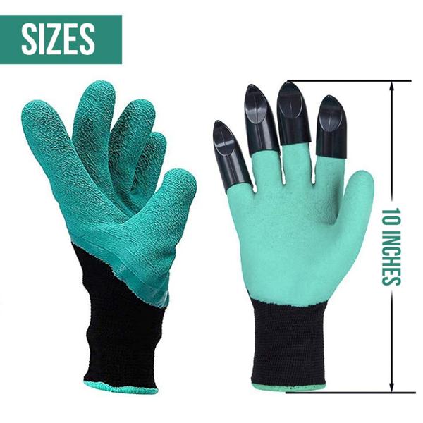 Garden Claw Gloves (Garden Digging & Planting with 4 ABS Plastic Claws Gardening Work Glove) - Gardenershopping