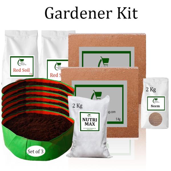Circular Grow Bags Gardener Kit Value Added- (Buy Complete Grow kit/ Growing kit Online India) - Gardenershopping