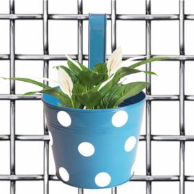 Bingo pot- Round Dotted Railing Planter- Red - Gardenershopping