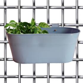 Cute Pot- Oval Railing Planter- Blue Magenta - Gardenershopping