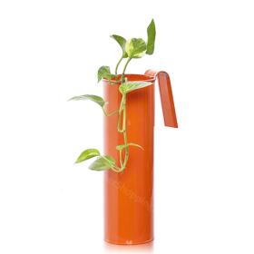 Fife pot- Cylindrical Railing Planter- Orange - Gardenershopping