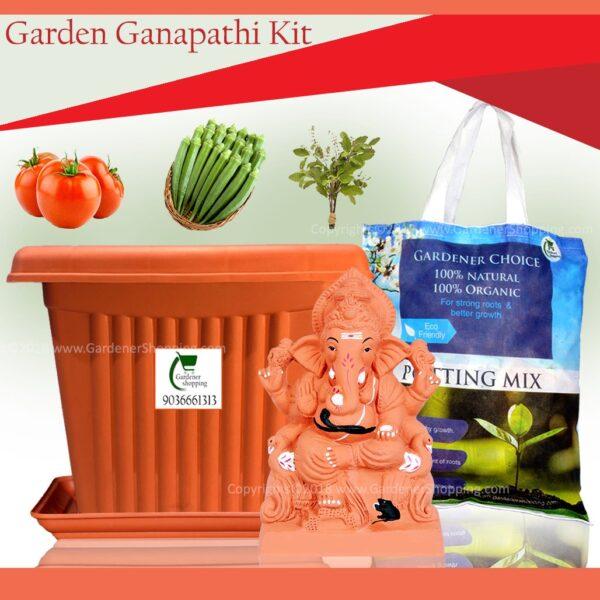 Eco-Friendly Ganesha Idol That Will Grow Into Plant (11 INCH GARDEN GANPATI KIT) - Gardenershopping