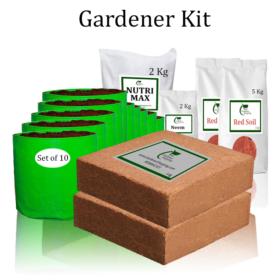 Grow Bags Gardener Kit Value Added- (Buy Complete Grow kit/ Growing kit Online India) - Gardenershopping